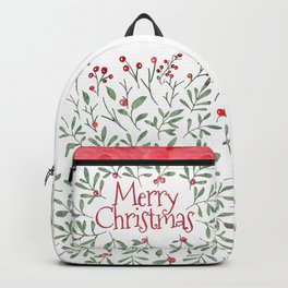 Watercolor Mistletoe Backpack