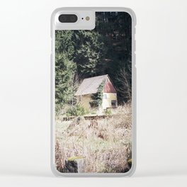 travelling east into the past Clear iPhone Case