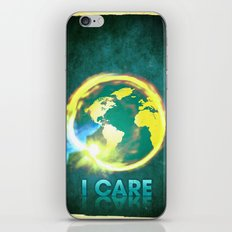 I Care / Blue iPhone & iPod Skin