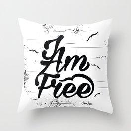 I am free Throw Pillow