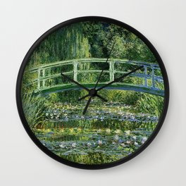 WATER LILLIES AND JAPANESE BRIDGE - CLAUDE MONET Wall Clock