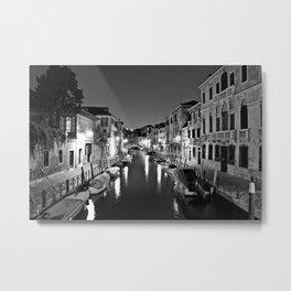 Venitian Canal. Santa Croce, Venice, Italy Metal Print