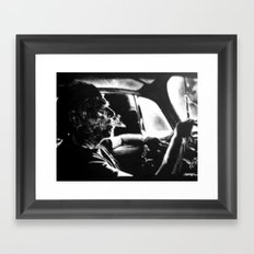 Bukowski's Sunday Drive Framed Art Print