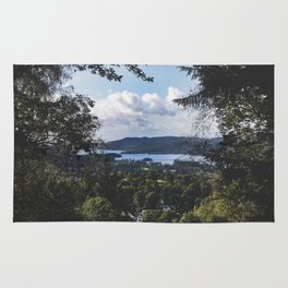 View of Lake Windermere - Landscape and Nature Photography Rug