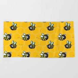 Bumble Bees Beach Towel