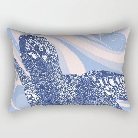 Unique Turtle Design Rectangular Pillow