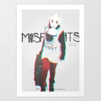 misfits Art Prints featuring Misfits by SAH.
