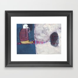 it smells Framed Art Print