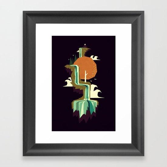 Waterfall dream Framed Art Print