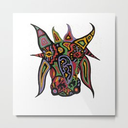 Brahma Bull Metal Print