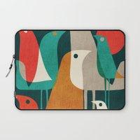 elegant Laptop Sleeves featuring Flock of Birds by Picomodi