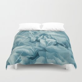 Soft Baby Blue Petal Ruffles Abstract Duvet Cover