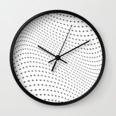 Plus Blowing Wall Clock