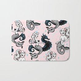 Pearla the Mermaid on Pink Bath Mat