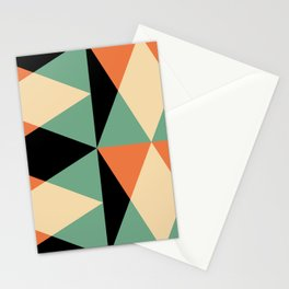Mid Century Modern Geometric Pattern 440 Stationery Cards