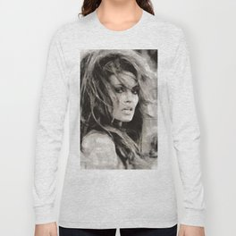 Raquel Welch Portrait Long Sleeve T-shirt