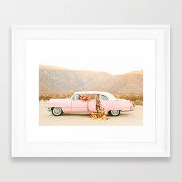 Floral Classic Pink Car Framed Art Print