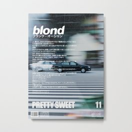 Frank Blond Vintage Pretty Sweet Metal Print