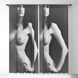 nude bw Blackout Curtain