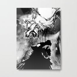 Two Wolves Metal Print