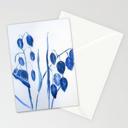 quaking grass in blue Stationery Cards