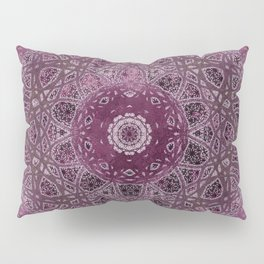 Vintage Merlot Lace Mandala Pillow Sham