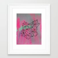 crystals Framed Art Prints featuring crystals by KaylaNewell