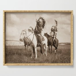 Sioux chiefs by Edward S Curtis 1905 Serving Tray
