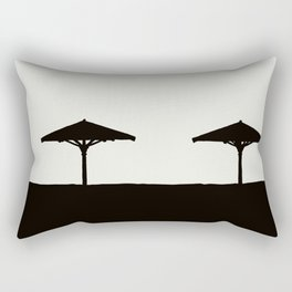 spiaggia con ombrelloni Rectangular Pillow