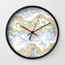 ' Templez, Cloudz, Sunz, Creaturez  '  By: Matthew Crispell   Wall Clock