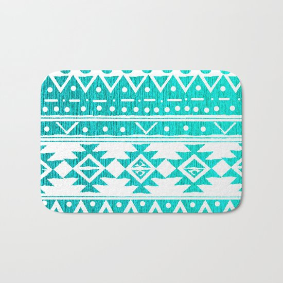 AQUAMARINE TRIBAL  Bath Mat