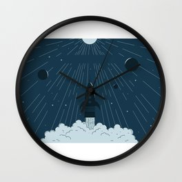 Launching To Space Wall Clock