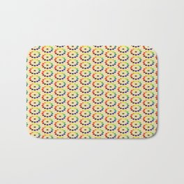Vintage remake of Bonnie E. Snow's and Hugo B. Froehlich's Larger Chromatic Circle 1918 (II) Bath Mat