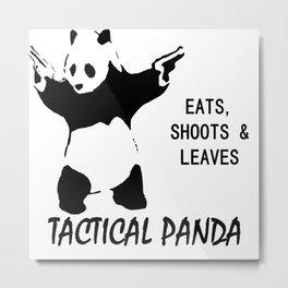 tactical panda Metal Print