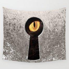 Peeping Tom... Cat Wall Tapestry