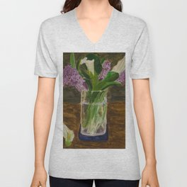 Mother's Day Lilies Unisex V-Neck