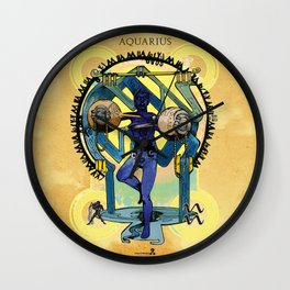 "Ars Tarot of the 12 Zodiac: ""Aquarius - The Star"" Wall Clock"