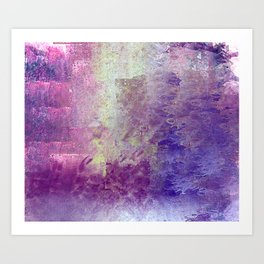 Abstract in Purples and Green Art Print