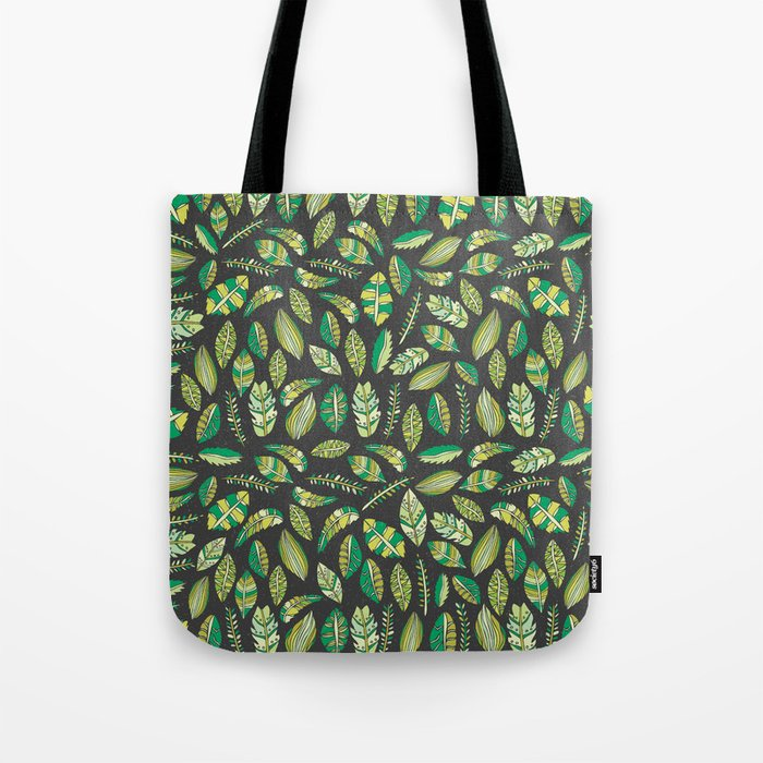 Night Tropical Jungle Tote Bag