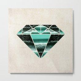 Sea Diamond Metal Print