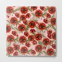 Poppy Pattern On Pink Background by lavieclaire