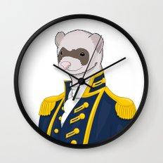 Captain Ferret Wall Clock