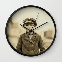 Ghostly Sisters Or Guardian Angels Wall Clock