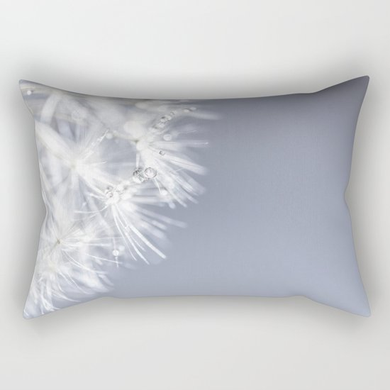 Sparkling dandelion with droplets - Flower water Rectangular Pillow