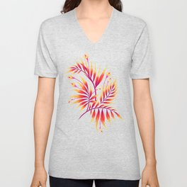 Waikiki Palm - Orange Unisex V-Neck