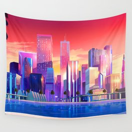 Pritty Cyty Wall Tapestry