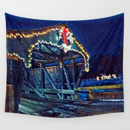 Mad River Coved Bridge, Vermont Wall Tapestry