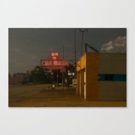 Car Wash, Route 66 Canvas Print