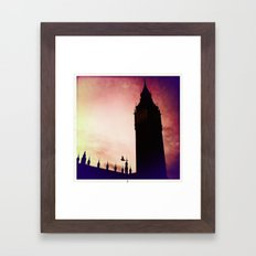 Big Ben & bird Framed Art Print