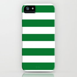 La Salle green - solid color - white stripes pattern iPhone Case